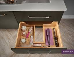 kraftmaid u0027s roll out trays are thoughtfully designed to fit around