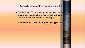 renweable u0026 non renewable sources of energy youtube