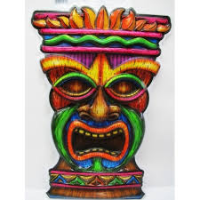 Hawaian Decorations Tiki Face Cut Out Party Decorations
