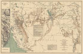 Map Of California And Oregon by Old State Map Utah Territory Us War Dept 1860