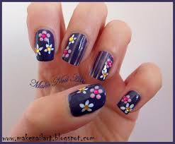 make nail art easy flower nail design for spring nail art tutorial