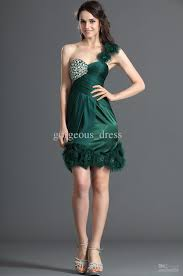 cocktail dresses for weddings new arrival luxury wedding gowns one shoulder green wedding