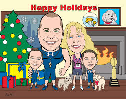 cards custom made caricatures and comics