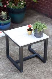Patio Furniture Pottery Barn by Outdoor Side Table Pottery Barn Knockoff