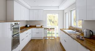 Painted Wood Floors Ideas by Kitchen Contemporary White Cabinets With Modern Interior Using