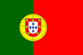 Flag Circle Portugal Button 3d Aqua Background Badge Banner Button