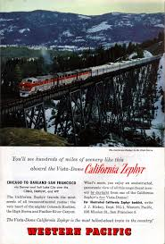 Amtrak California Zephyr Map by The Legendary California Zephyr