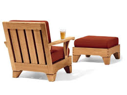 Smith And Hawken Teak Patio Furniture by Smith U0026 Hawken Saranac Lounge Chair And Ottoman
