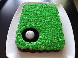 playing with my food golf themed cake