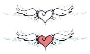 angel wing tattoo designs small download heart tattoo patterns danielhuscroft com