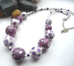 tutorial necklace making images Making polymer clay beads georgia p designs jpg