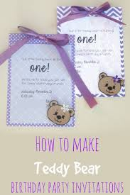 s plans diy birthday party invitations teddy theme