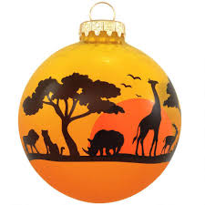 animal silhouette glass ornament ethnic pride