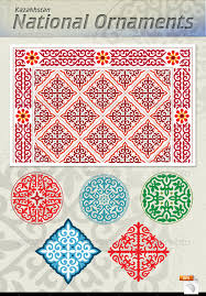 kazakh national ornaments asia ornament and patterns