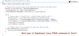 tutorial linux sort new how to implement linux ping utility command in java http