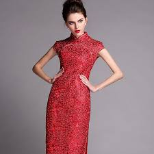 Chinese Wedding Dress Traditional Red Sequins Long Chinese Wedding Dress U2013 Red Chinese Dress
