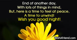 end of another day with lots of greetings