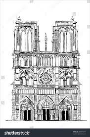notre dame de paris cathedral france stock vector 200071847 notre dame de paris cathedral france hand drawing sketch vector