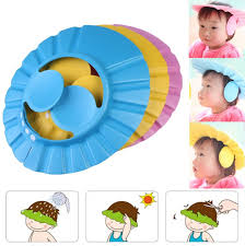 baby shower cap adjustable baby shower cap with ear sheild hulaki