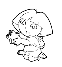 14 best dora coloring pages images on pinterest dora coloring