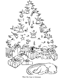 coloring pages of christmas trees kids coloring