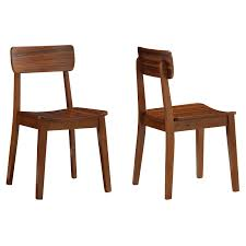 Zebra Dining Room Chairs by Boraam Zebra Series Hagen Dining Chairs Set Of 2 Walnut