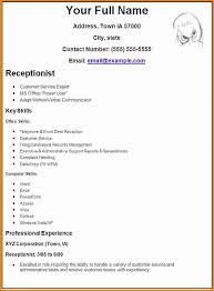 Make A Resume On Word 7 Creating A Resume Template Outlineformatsample Com