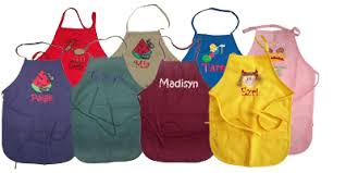 embroidered and personalized child s aprons children s aprons