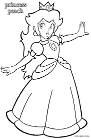 printable princess peach coloring pages kids cool2bkids