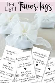 printable favor tags for tea light baby shower favors