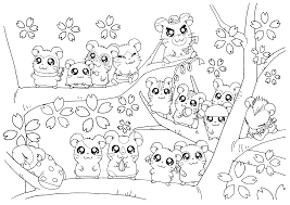 hamtaro coloring pages eson me