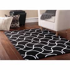 Bound Area Rugs Mainstays Drizzle Area Rug Black White Walmart Com