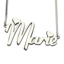 Silver Nameplate Necklace Online Get Cheap Silver Nameplate Necklace Aliexpress Com
