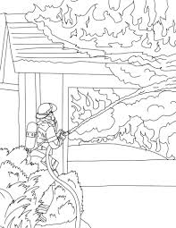 firefighter coloring pages fighting house fire coloringstar