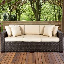 Outdoor Sofa With Chaise Amazon Com Best Choiceproducts Outdoor Wicker Patio Furniture