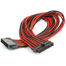 phanteks motherboard 24 pin extension cable black red ph cb24p br