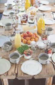 Formal Breakfast Table Setting Perfect Table For Spring Or Summer Guest Breakfast Great Idea For