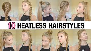 hair styles for back of 10 back to school heatless hairstyles youtube
