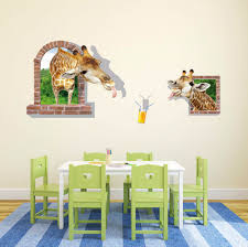 Kids Room Decals by Online Shop 3d Cute Giraffe Vinyl Wall Stickers Animal Kids