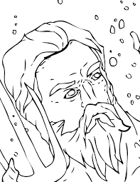 minotaur zeus the greek king of the gods coloring page
