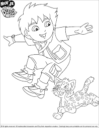 good diego coloring pages 74 free coloring book