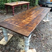 12 foot farm table wooden farmhouse table plans diy blueprints