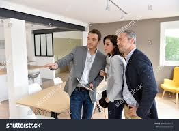 mature couple realestate agent visiting new stock photo 405240037