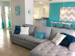 grey and turquoise living room decor metal glass square accent