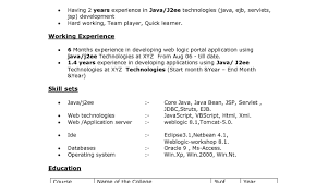 sample resume for java developer 2 year experience best java