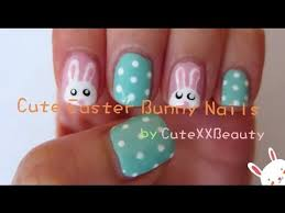 nail art designs cute easter bunny nail art tutorial for short