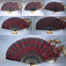held fans for wedding folding sequins fan wedding party home decor fan traditional