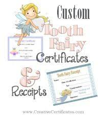 11 best tooth fairy images on pinterest tooth fairy certificate