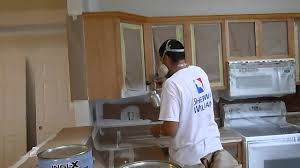 Spraying Kitchen Cabinets Cabinet Painting Refinishing And Painting How To Using Graco