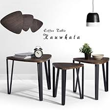 Table Set For Living Room Coffee Table Set Of 3 End Side Table Stand Table